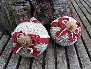 Dekorácie - Háčkovaná vianočná guľa - 8631764_