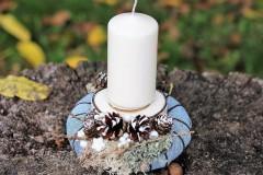 Dekorácie - Vianočný svietnik - 8632191_