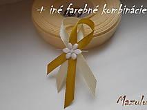 Pierka - svadobné pierko maslovoZlaté - 8631869_