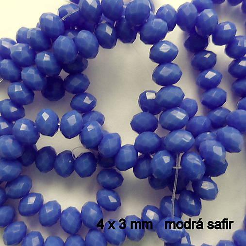 Skl.rondelka 4x3mm-1ks (modrá safir)