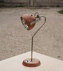Svietidlá a sviečky - Stolná lampa KNIHOMOĽ hnedočervená - 8632546_