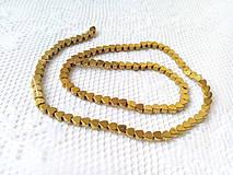 Korálky - Hematitové srdiečka 4mm - zlaté - 8629368_