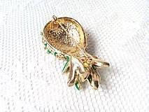 Galantéria - Brošňa ananás - 8629703_
