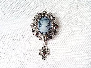 Galantéria - Vintage brošňa - 8629434_