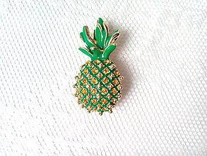 Galantéria - Brošňa ananás - 8629704_
