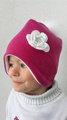 Detské čiapky - Čiapočka ružová - 8629186_