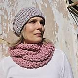Čiapky - pink grey kulich - 8629085_