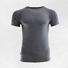 Oblečenie - Merino pánske tričko Poltár šedé - 8630509_