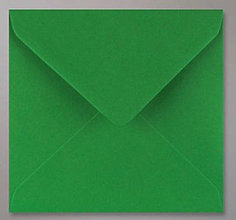 Papier - Obálka štvorcová - vianočná zelená (155 x 155 mm) - 8630216_
