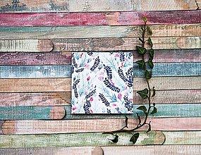 Papiernictvo - Leporelo 13x13 s autorskou ilustráciou ,,Modrá lúka,, - 8629164_
