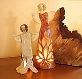 Dekorácie - Anjel - svietnik - 8629247_