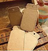 Papier - VI108 Visačka v tvare pohára 6,5 x 3,5 cm - 8633111_