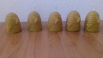Drobnosti - Úlik Sviečka zo 100% včelieho vosku - 8633165_
