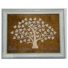 Obrazy - Spomienkový strom/ kniha hostí a prianí - 8631304_