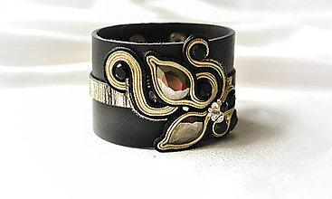 Náramky - Leather soutache bracelet I. - 8629167_