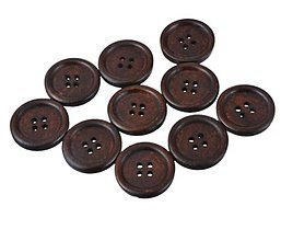 Galantéria - Drevený gombík 2cm - 8630068_