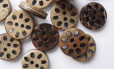 Galantéria - Kokosový gombík 12,5mm - 8630071_