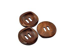 Galantéria - Drevený gombík 3cm - 8631855_