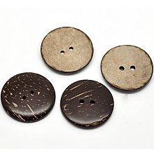 Galantéria - Kokosový gombík 3cm - 8631862_