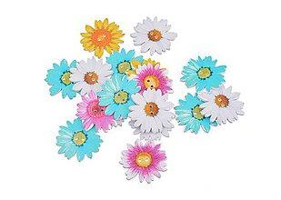 Galantéria - Drevené gombíčky kvetinky (balíček 4ks) - 8631912_