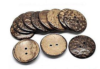 Galantéria - Kokosový gombík 4,4cm - 8631925_
