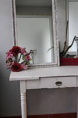 Zrkadlá - Biele vintage zrkadlo - predané - 8631239_