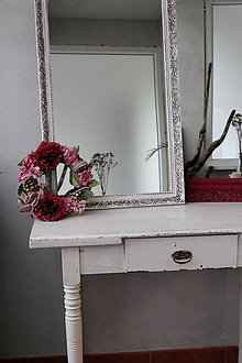 Zrkadlá - Biele vintage zrkadlo - 8631239_