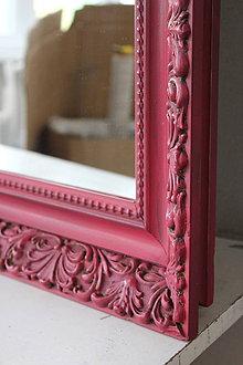 Zrkadlá - Červené vintage zrkadlo XXL - predané - 8631267_