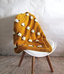 Úžitkový textil - Deka s ovečkami... - 8631640_