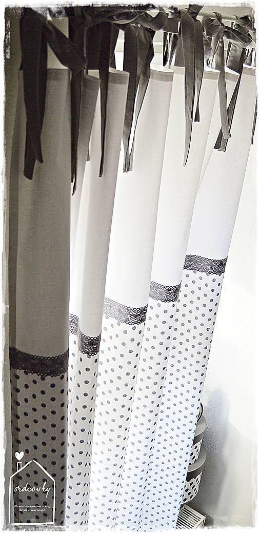 Úžitkový textil - Dlhé závesy - 8629286_