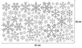 Nálepky na stenu / okno - Snehové vločky