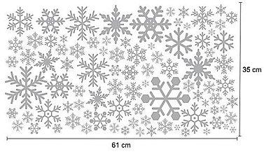 Dekorácie - Nálepky na stenu / okno - Snehové vločky (Ľadovo modrá) - 8630777_