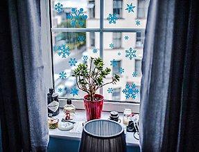 Dekorácie - Nálepky na stenu / okno - Snehové vločky - 8630779_