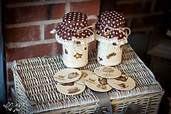 Nádoby - Dózy na čaj s podšálkami :-) - 8636352_