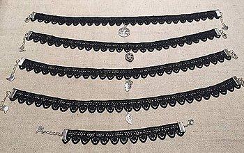 Náhrdelníky - Choker čipka - 8633279_