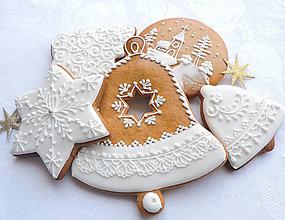 Dekorácie - Medovníková sada 5 ks v darčekovej krabičke - 8635301_