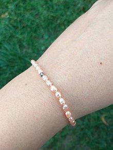 Náramky - Elastic Peach Rice Freshwater Pearls Bracelet / Náramok sladkovodné pozdĺžne perly broskynové /0481 - 8635528_