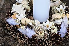 Dekorácie - Vianočný svietnik - 8634023_