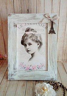 Rámiky - vintage rámik s eiffelovkou - 8633572_