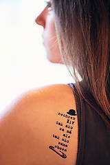 Nezaradené - Dočasné tetovačky - čistá duša - 8634509_