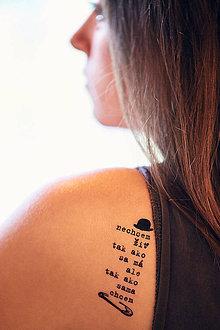 Nezaradené - Dočasné tetovačky - čistá duša (22) - 8634509_