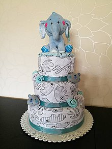 Detské doplnky - Plienkova torta - 8636577_