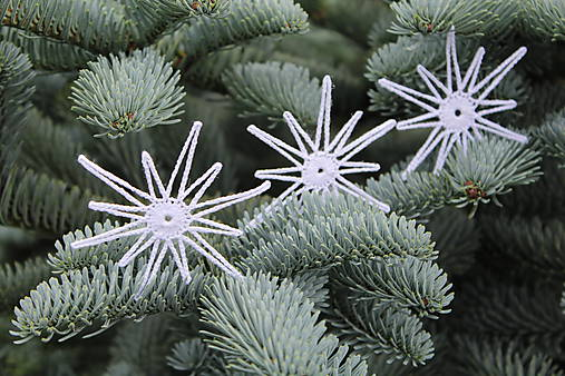 Háčkovaná biela hviezda (sada 3 ks)   Zantess - SAShE.sk - Handmade ... 4308d63121e