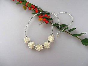 Náhrdelníky - Zímné vločky - perly pravé náhrdelník Ag925/1000 - 8636394_