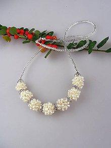Náhrdelníky - Šťastných 7 - náhrdelník pravé perly, striebro Ag925/1000 - 8636434_