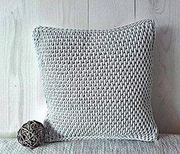 Úžitkový textil - Vankúš Nordic Day svetlošedý - 8634546_
