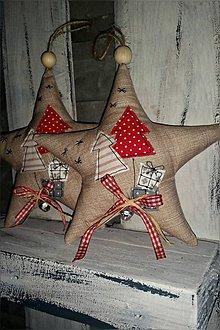 Dekorácie - Hviezdicky Vianocne :) - 8635650_