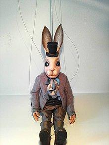 Hračky - Marioneta zajac - 8636297_