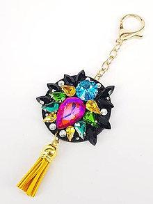 Kľúčenky - Luxusný prívesok STOUN na kabelku - Mix veselých farieb - 8636767_