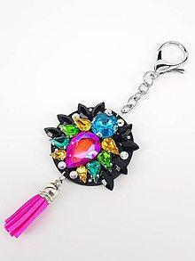 Kľúčenky - Luxusný prívesok STOUN na kabelku -  Mix veselých farieb - 8636789_